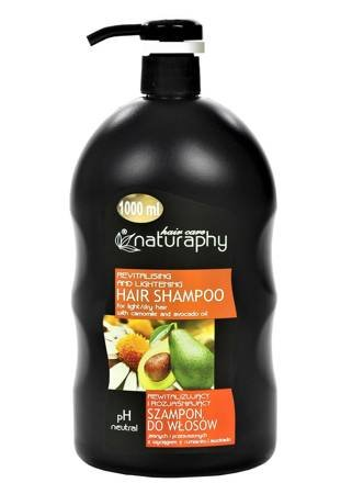 Revitalizing and brightening shampoo for fair and dry hair with chamomile and avocado extracts 1L