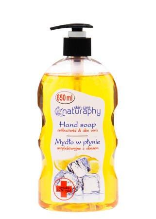 Mydło do rąk w płynie antybakteryjne cytrynowe z aloesem 650 ml