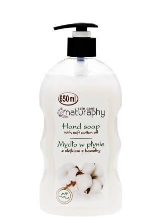 Mydło do rąk w płynie z olejkiem z bawełny 650 ml