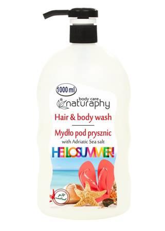 Mydło pod prysznic HelloSummer z solą morską z Adriatyku 1L